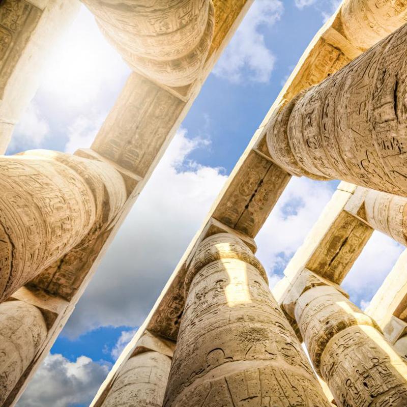 Ägyptische Tempelsäule